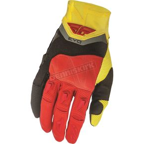 Fly Racing Black/Red/Yellow Evolution 2.0 Gloves - 369-11813