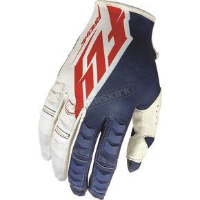 Fly Racing Navy/White/Red Kinetic Gloves - 369-41913