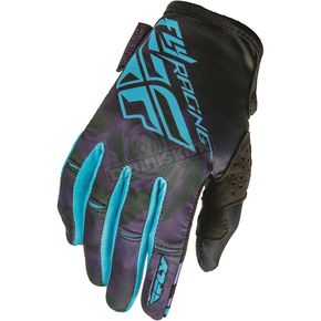Fly Racing Youth Purple/Blue Kinetic Gloves - 369-61104