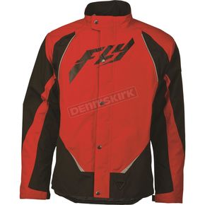 Fly Racing Black/Red Aurora Jacket - 470-2122X