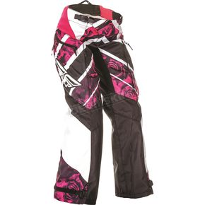 Fly Racing Women's Pink/White Kinetic Over Boot Pants - 369-65405