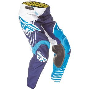 Fly Racing Blue/White/Navy Kinetic Vector Pants - 369-53136