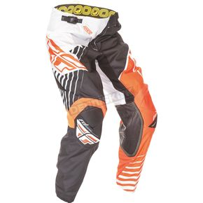 Fly Racing Youth Black/White/Orange Kinetic Vector Pants - 369-53718