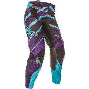 Fly Racing Youth Girl's Purple/Blue Kinetic Pants - 369-63101