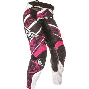 Fly Racing Women's Pink/White Kinetic Pants - 369-63404