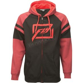 Fly Racing Black/Burgundy Threshold Zip Hoody - 354-6272L