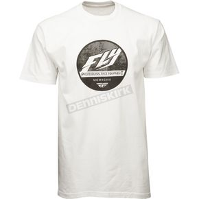 Fly Racing White Clique Premium T-Shirt - 352-0384X