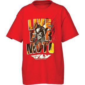 Fly Racing Youth Red Live for Moto T-Shirt - 352-0662YL