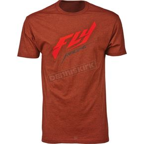 Fly Racing Brick Heather Stock Premium T-Shirt - 3573905XL