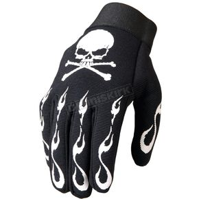 Hot Leathers Skull & Crossbones Mechanics Gloves - GVM2006L