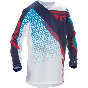 Fly Racing Red/White/Blue Kinetic Mesh Trifecta Jersey - 370-322X