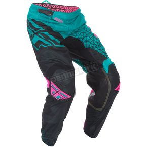 Fly Racing Teal/Pink/Black Kinetic Mesh Trifecta Pants - 370-33534