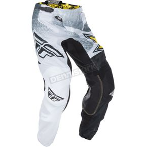Fly Racing White/Black Rockstar Kinetic Mesh Trifecta Pants - 370-33934