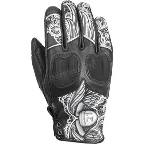 Highway 21 Women's Black/White Lace Vixen Gloves - 489-0091M