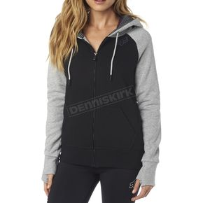 Fox Women's Black Permafrost Polar Fleece Zip Hoody - 18072-001-XL