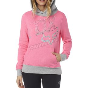 Fox Women's Neon Pink Shaded Pullover Hoody - 18135-065-S