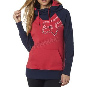 Fox Women's Bright Rose Aired Pullover Hoody - 18183-303-XS