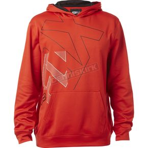 Fox Flame Red Borley Pullover Hoody - 18269-122-S