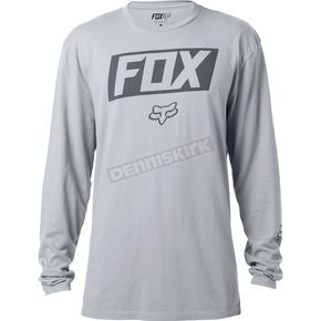 Fox Silver Foiled Long Sleeve Shirt - 18294-064-2X