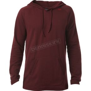 Fox Heather Burgundy Pitted Hooded Long Sleeve Shirt - 18339-106-M