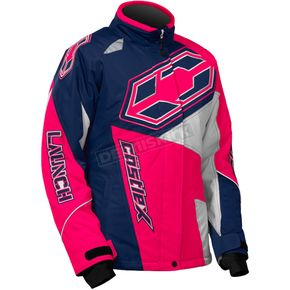 Castle X Youth Navy/Hot Pink Launch SE G4 Jacket - 72-5521