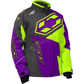 Castle X Youth Grape/Hi-Vis Launch SE G4 Jacket - 72-5538