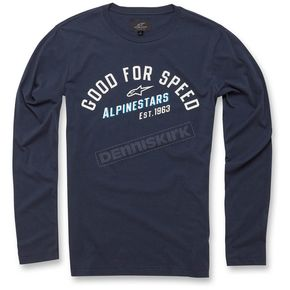 Alpinestars Navy Upshift Long Sleeve Knit Shirt - 103642000-70XL
