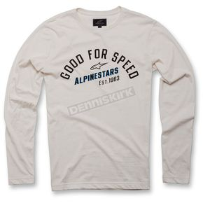 Alpinestars White Upshift Long Sleeve Knit Shirt - 103642000-204S
