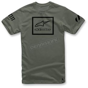 Alpinestars Military Green Grande T-Shirt - 103672011-6902X