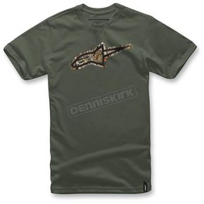 Alpinestars Army Green Trigger T-Shirt  - 103672014-692X