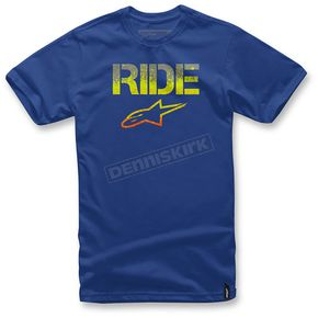 Alpinestars Royal Blue Ride Splatter T-Shirt  - 103672004-79L