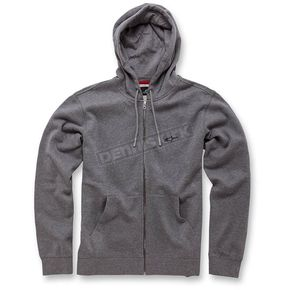 Alpinestars Heather Gray Legacy Fleece Hoody - 103653008-111S