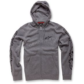 Alpinestars Heather Gray Determine Fleece Hoody - 103653010-111L