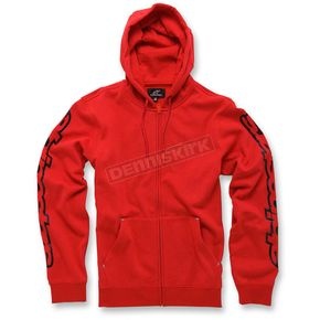 Alpinestars Red Determine Fleece Hoody - 103653010-30XL