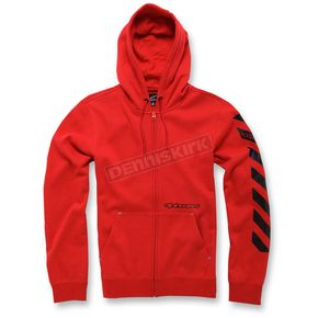Alpinestars Red Debrief Fleece Hoody - 103653009-30L