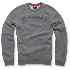 Alpinestars Heather Gray Recognize Fleece Pullover - 103651006-1112X