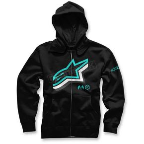 Alpinestars Black Halogen Zip Hoody - 103653012-10S