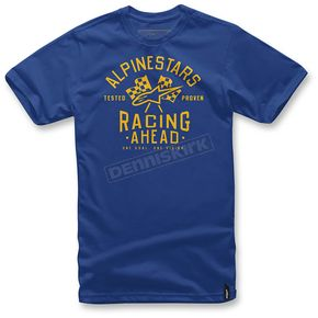 Alpinestars Royal Blue Ahead T-Shirt  - 1036-72009-79L
