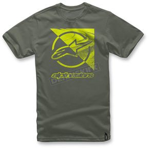 Alpinestars Military Green Rift T-Shirt  - 1036-72006-6902