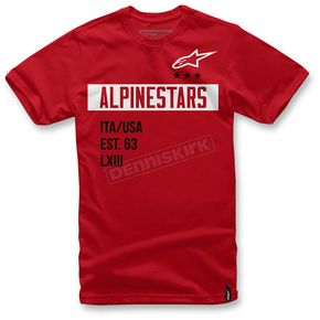 Alpinestars Red Valiant T-Shirt  - 1036-72002-30L