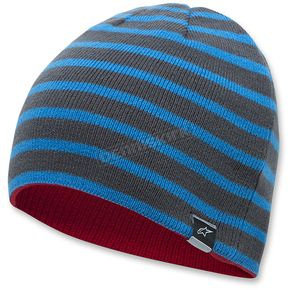 Alpinestars Blue/Red Total Reversible Beanie - 1036-81024-7230