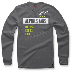 Alpinestars Charcoal Heather Valiant Crew Fleece Pullover - 103651007-191XL