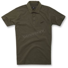 Alpinestars Army Green Perpetual Polo Shirt - 1016-41005-69S
