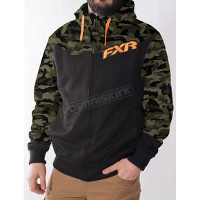 FXR Racing Army Urban Camo/Black/Orange Terrain Sherpa Tech Hoody - 170937-7630-19