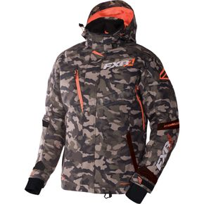 FXR Racing Army Urban Camo/Orange Mission Jacket - 170008-7630-10
