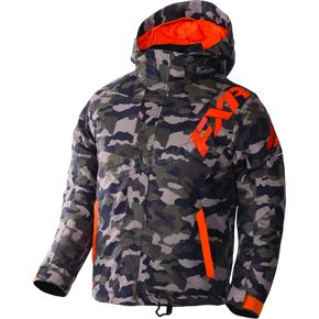 FXR Racing Child's Army Urban Camo/Orange Squadron Jacket - 170407-7630-02