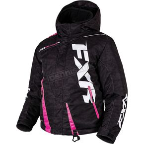 FXR Racing Child's Black Digi/Electric Pink Boost Jacket - 170410-1194-06