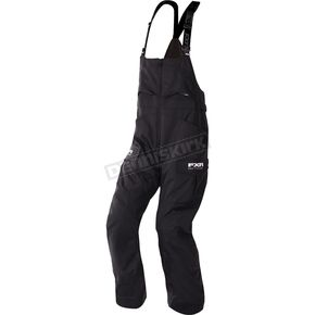 FXR Racing Black Excursion Bibs - 170104-1000-22