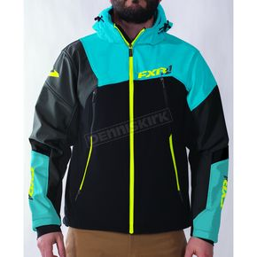 FXR Racing Black/Blue/Hi-Vis Renegade Softshell Jacket - 170927-1040-19