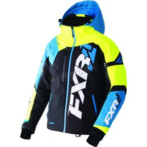 FXR Racing Black/Blue/Hi-Vis Revo X Jacket - 170025-4065-22